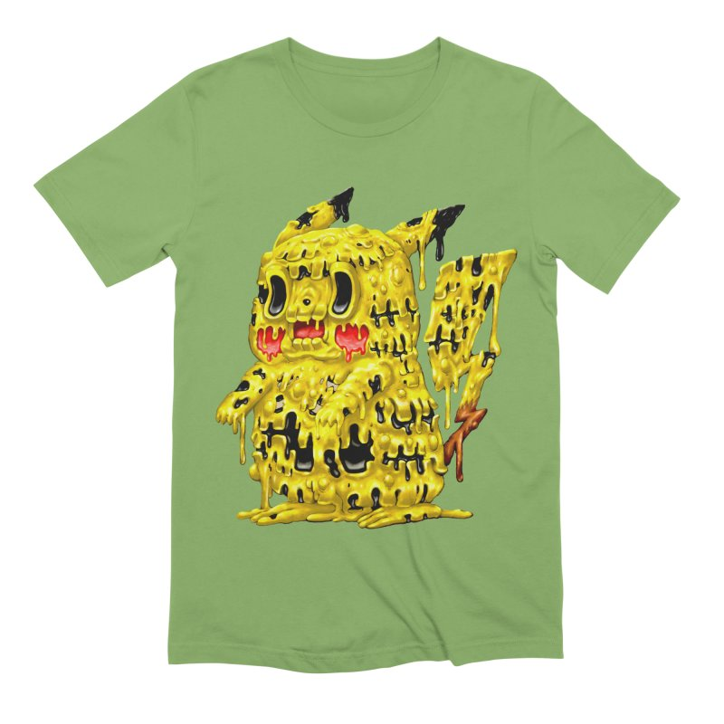 Melting Yellow Monster Men's Extra Soft T-Shirt by villainmazk's Artist Shop