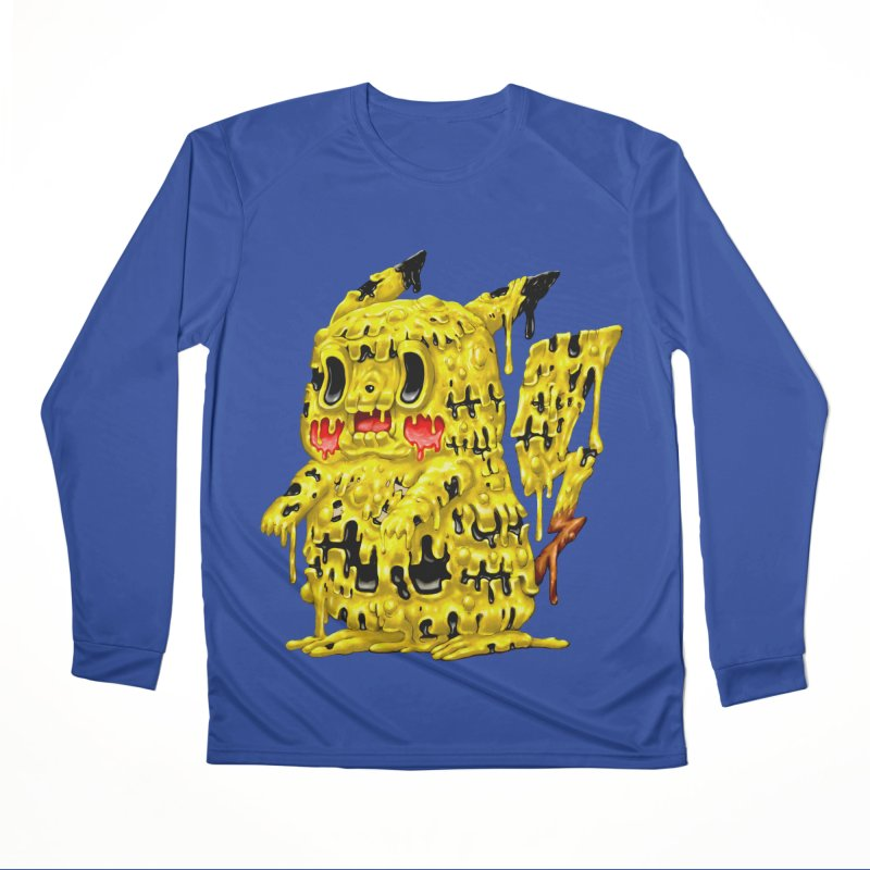 Melting Yellow Monster Men's Performance Longsleeve T-Shirt by villainmazk's Artist Shop