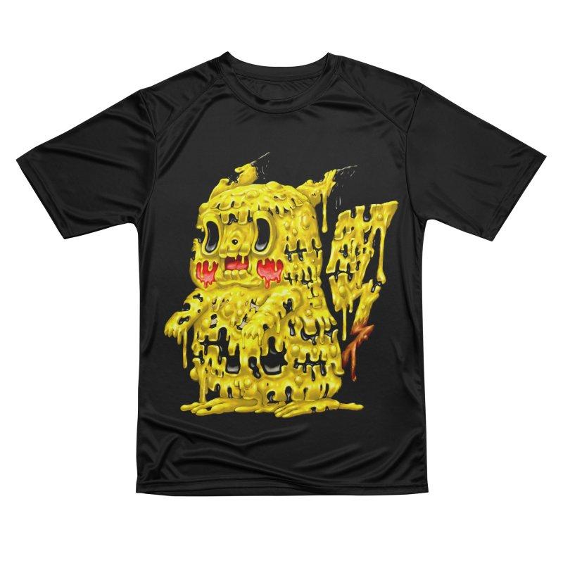 Melting Yellow Monster Men's Performance T-Shirt by villainmazk's Artist Shop