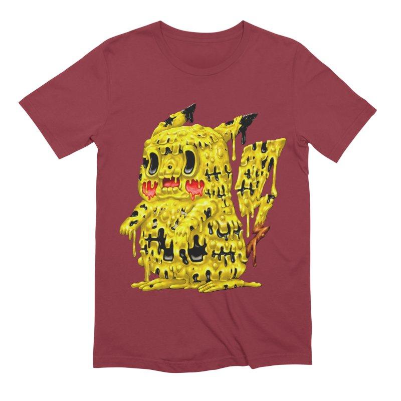 Melting Yellow Monster Men's Extra Soft T-Shirt by villainmazk's Artist Shop