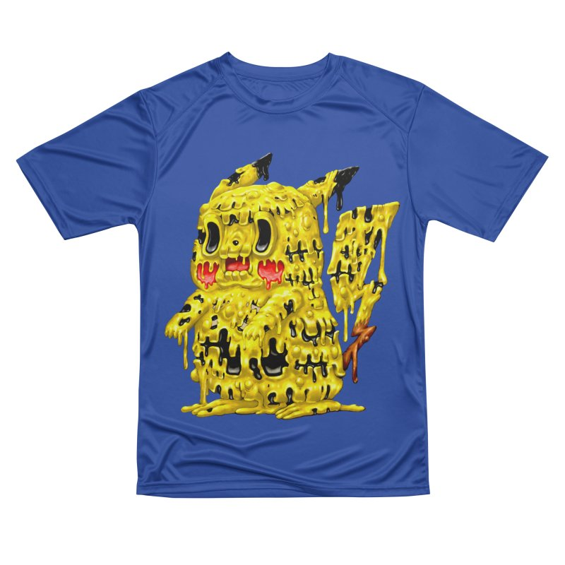 Melting Yellow Monster Women's Performance Unisex T-Shirt by villainmazk's Artist Shop