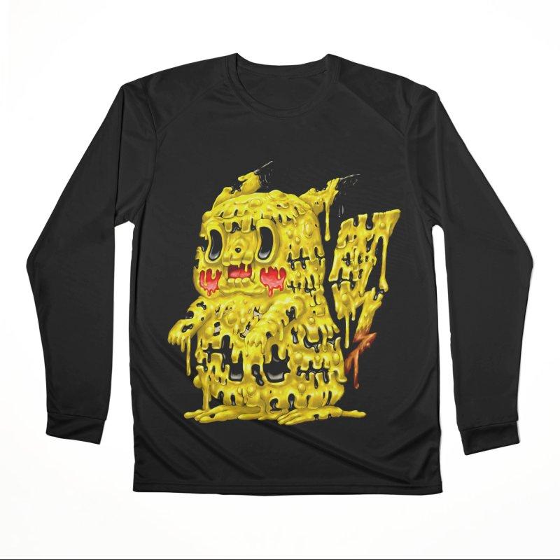 Melting Yellow Monster Men's Performance Longsleeve T-Shirt by villainmazk's Artist Shop
