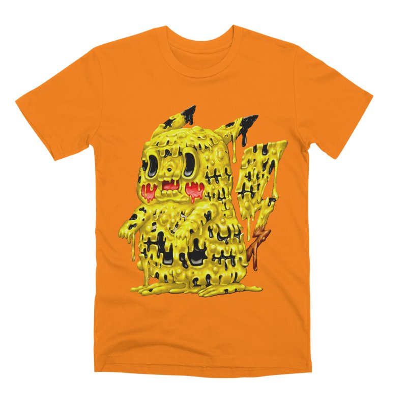 Melting Yellow Monster Men's T-Shirt by villainmazk's Artist Shop