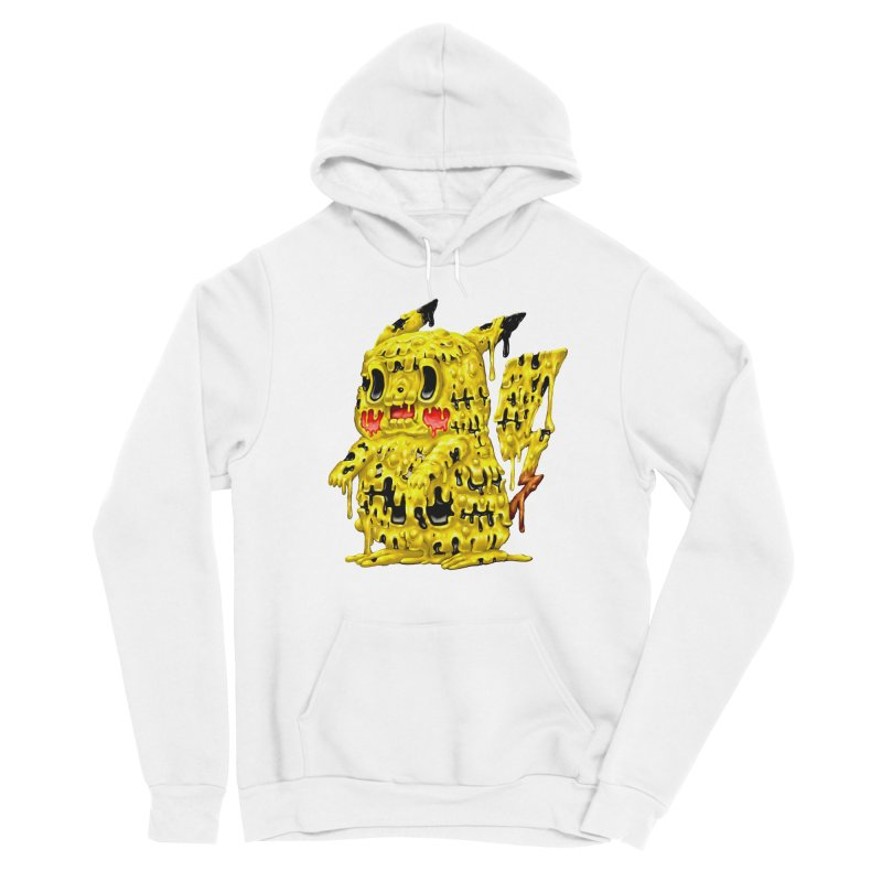 Melting Yellow Monster Men's Sponge Fleece Pullover Hoody by villainmazk's Artist Shop