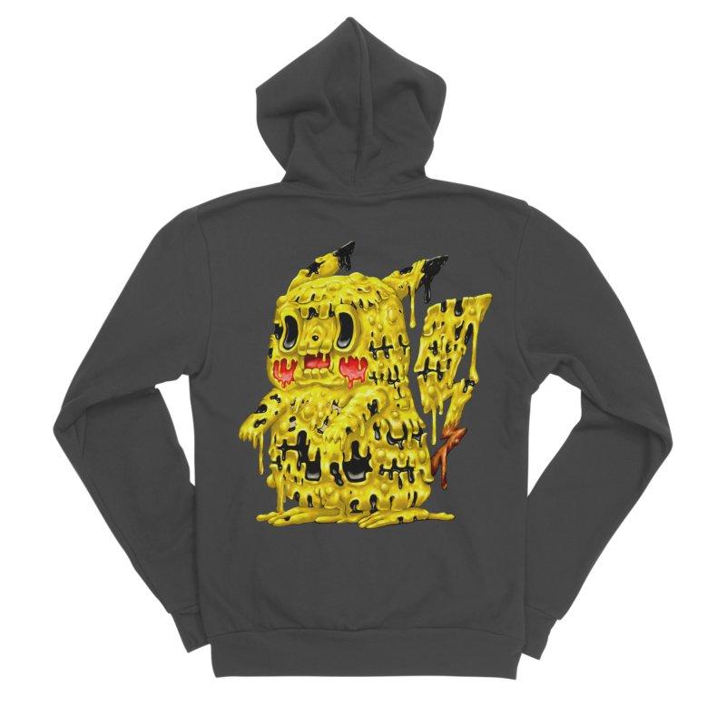 Melting Yellow Monster Men's Sponge Fleece Zip-Up Hoody by villainmazk's Artist Shop