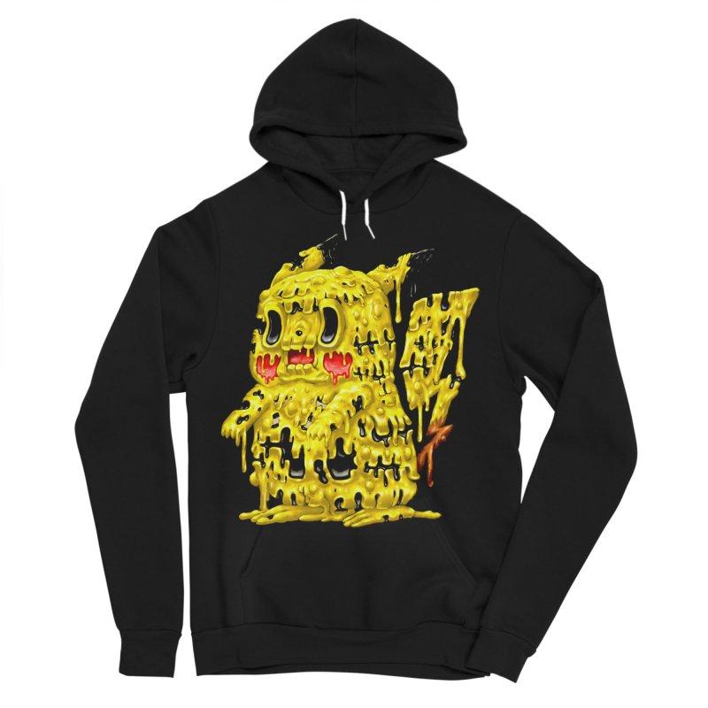 Melting Yellow Monster Men's Sponge Fleece Pullover Hoody by villainmazk's Artist Shop