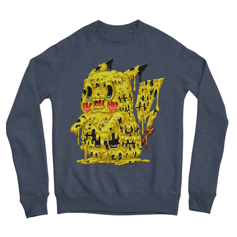 Melting Yellow Monster Men's Sponge Fleece Sweatshirt by villainmazk's Artist Shop