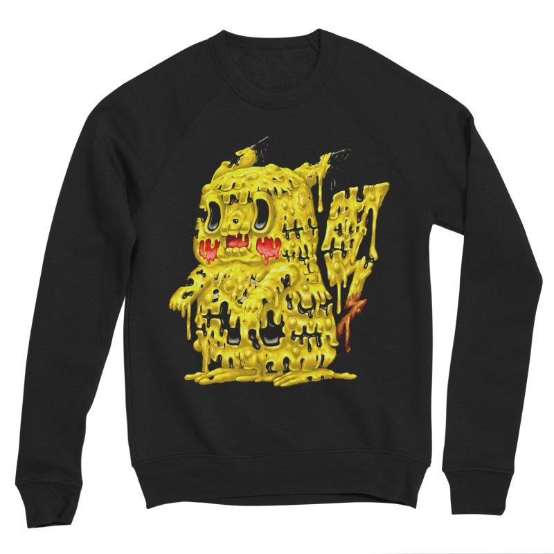 Melting Yellow Monster Men's Sponge Fleece Sweatshirt by villainmazk's Artist Shop