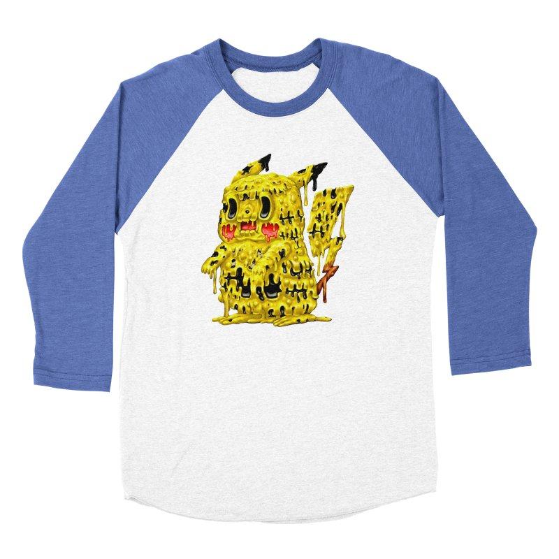 Melting Yellow Monster Men's Baseball Triblend Longsleeve T-Shirt by villainmazk's Artist Shop