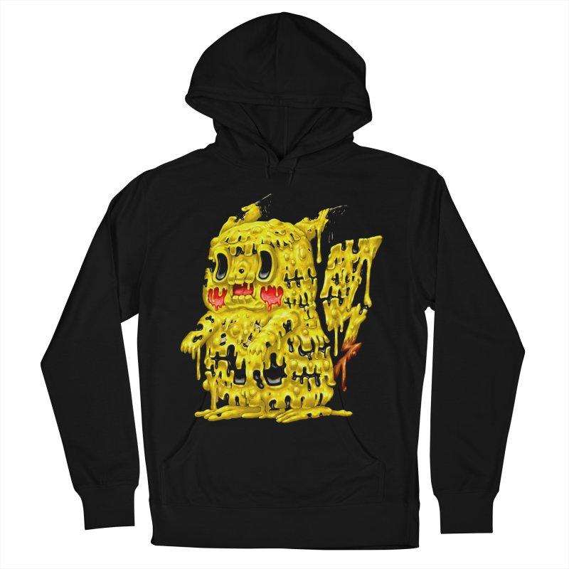 Melting Yellow Monster Men's French Terry Pullover Hoody by villainmazk's Artist Shop