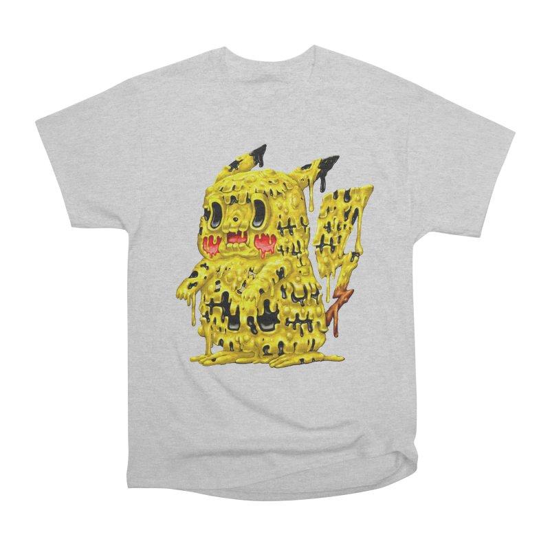 Melting Yellow Monster Men's Heavyweight T-Shirt by villainmazk's Artist Shop