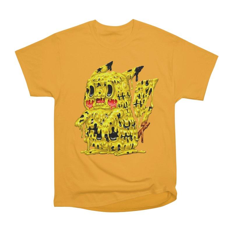 Melting Yellow Monster Women's Heavyweight Unisex T-Shirt by villainmazk's Artist Shop