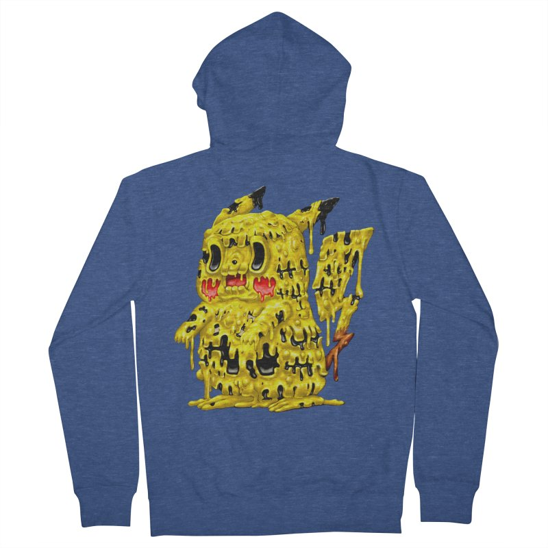 Melting Yellow Monster Women's French Terry Zip-Up Hoody by villainmazk's Artist Shop