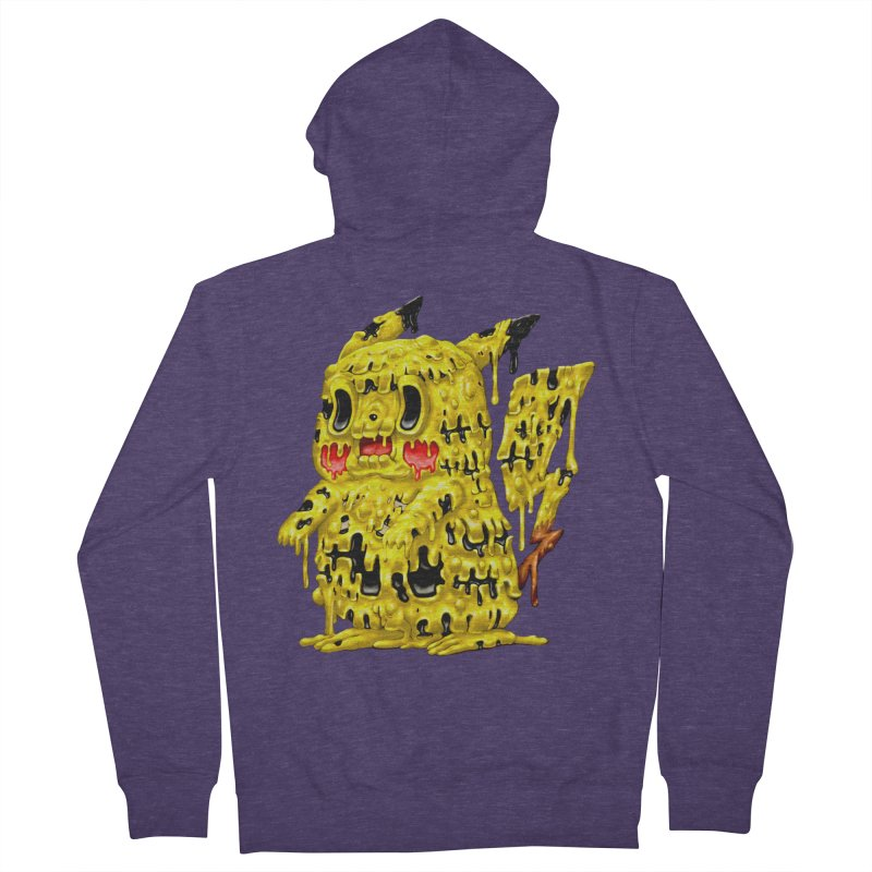 Melting Yellow Monster Men's French Terry Zip-Up Hoody by villainmazk's Artist Shop