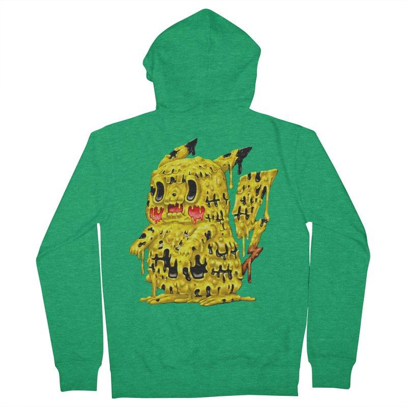 Melting Yellow Monster Men's Zip-Up Hoody by villainmazk's Artist Shop