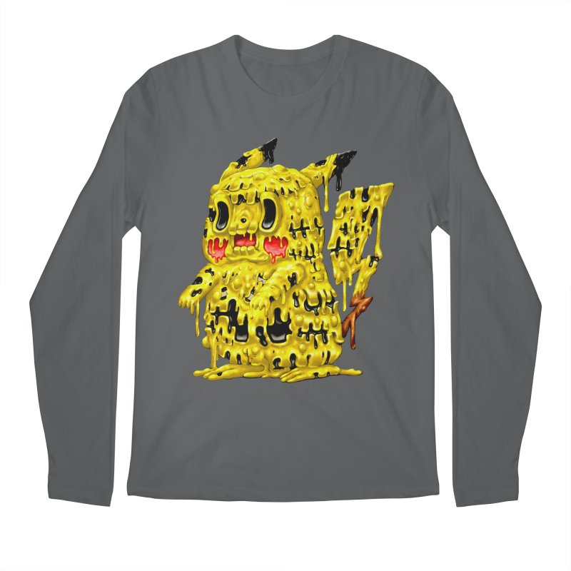 Melting Yellow Monster Men's Longsleeve T-Shirt by villainmazk's Artist Shop