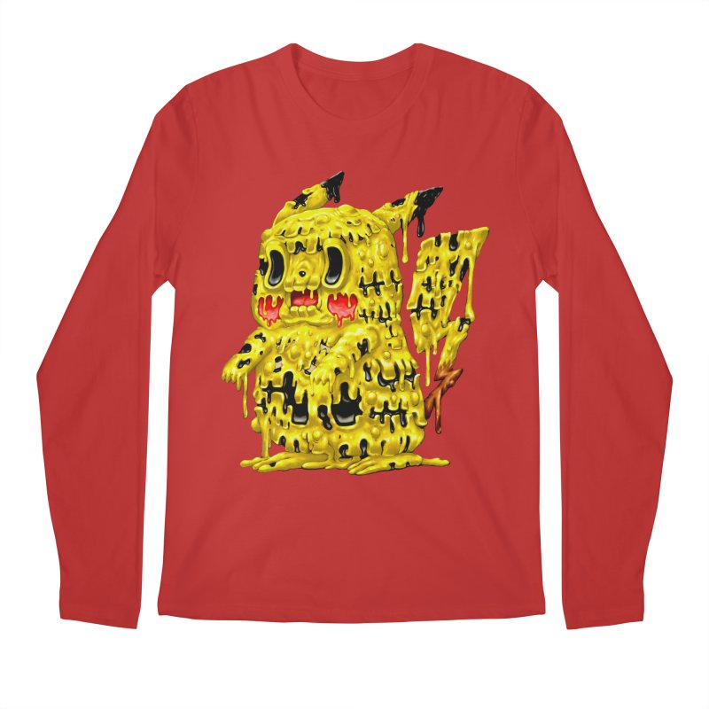 Melting Yellow Monster Men's Regular Longsleeve T-Shirt by villainmazk's Artist Shop