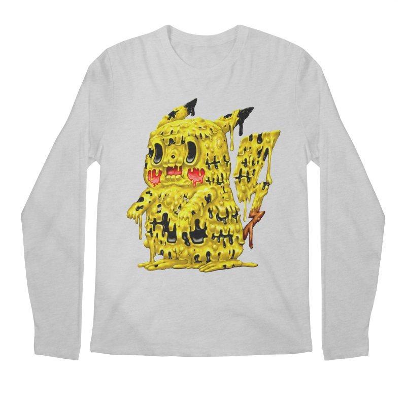 Melting Yellow Monster Men's Regular Longsleeve T-Shirt by villainmazk's Artist Shop