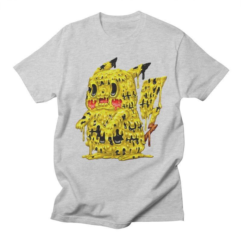 Melting Yellow Monster Men's Regular T-Shirt by villainmazk's Artist Shop