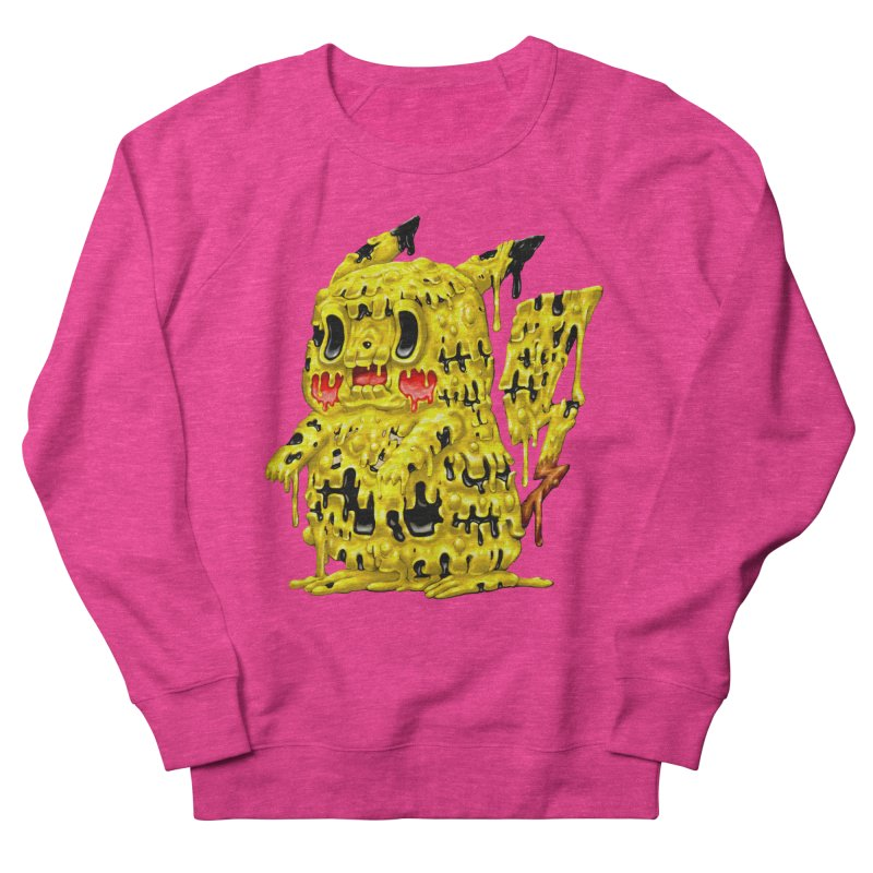 Melting Yellow Monster Women's French Terry Sweatshirt by villainmazk's Artist Shop