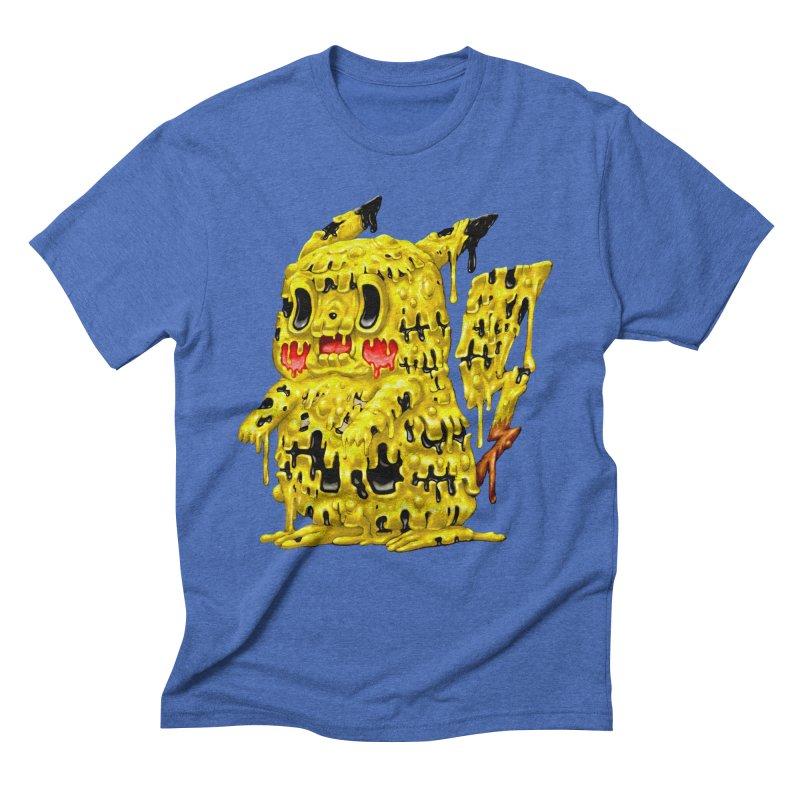 Melting Yellow Monster Men's Triblend T-Shirt by villainmazk's Artist Shop