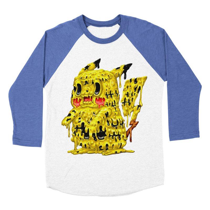 Melting Yellow Monster Women's Baseball Triblend Longsleeve T-Shirt by villainmazk's Artist Shop