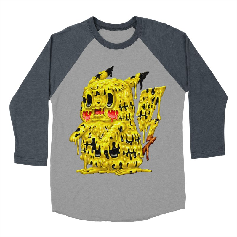 Melting Yellow Monster Women's Baseball Triblend Longsleeve T-Shirt by villainmazk's Artist Shop
