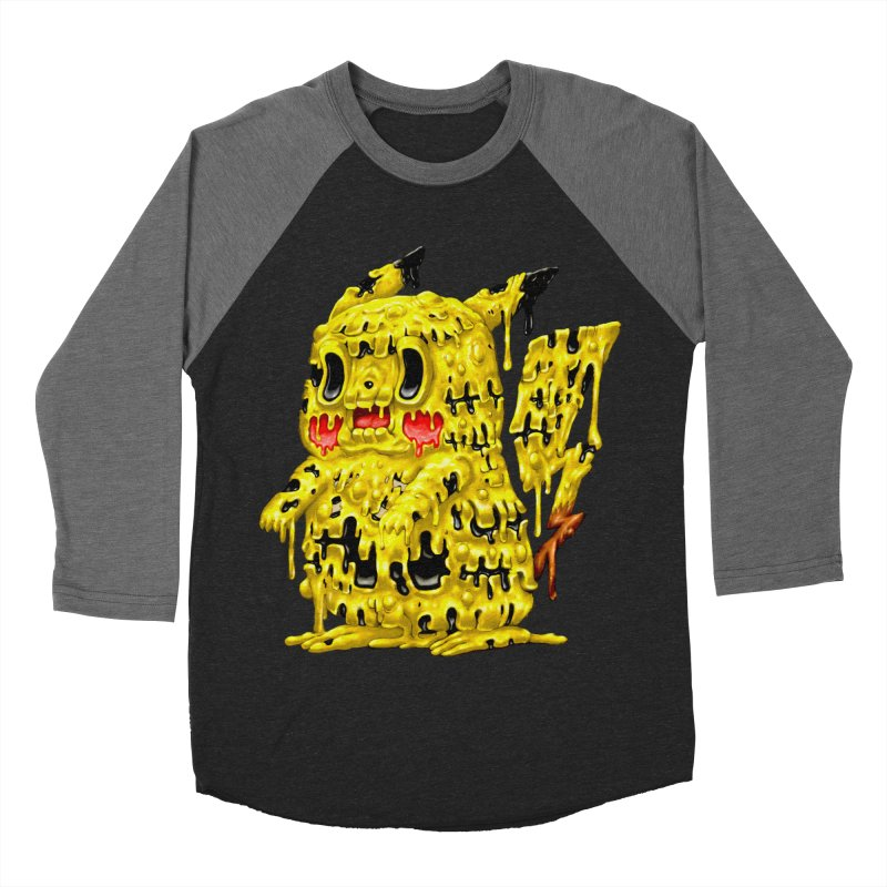 Melting Yellow Monster Men's Baseball Triblend Longsleeve T-Shirt by villainmazk's Artist Shop