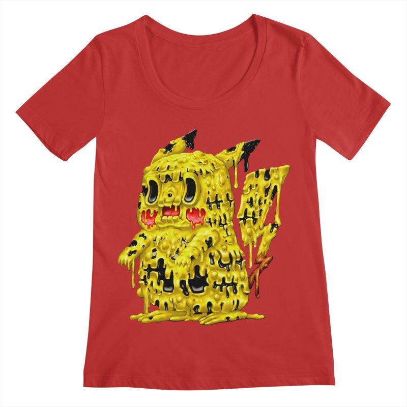 Melting Yellow Monster Women's Regular Scoop Neck by villainmazk's Artist Shop