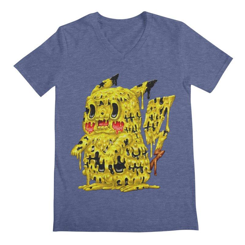 Melting Yellow Monster Men's Regular V-Neck by villainmazk's Artist Shop