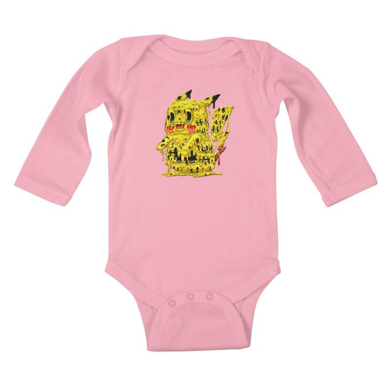 Melting Yellow Monster Kids Baby Longsleeve Bodysuit by villainmazk's Artist Shop