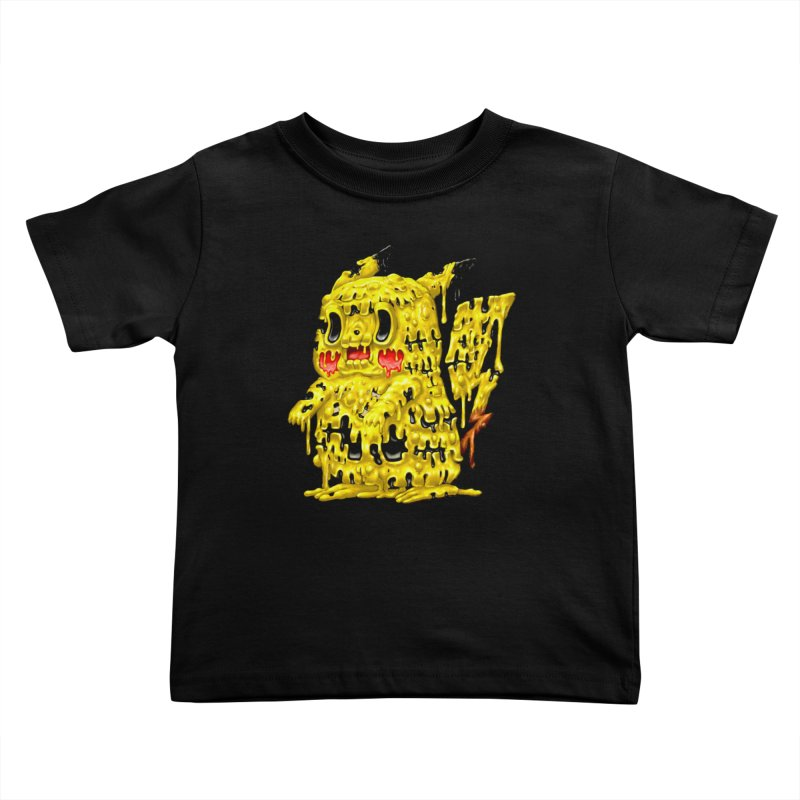 Melting Yellow Monster Kids Toddler T-Shirt by villainmazk's Artist Shop