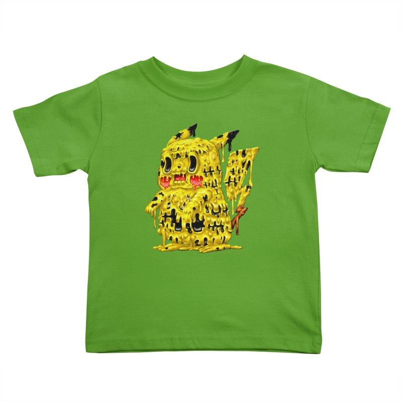 Melting Yellow Monster Kids Toddler T-Shirt by villainmazk's Artist Shop