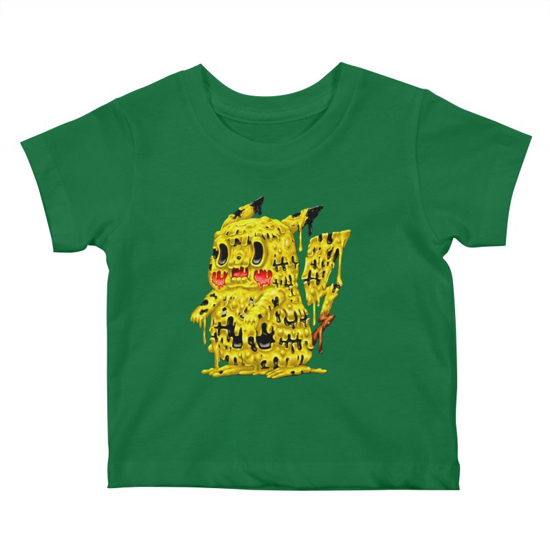 Melting Yellow Monster Kids Baby T-Shirt by villainmazk's Artist Shop