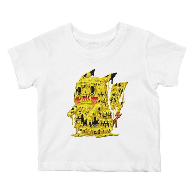 Melting Yellow Monster Kids Baby T-Shirt by villainmazk's Artist Shop