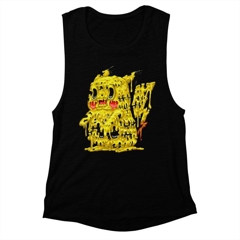 Melting Yellow Monster Women's Muscle Tank by villainmazk's Artist Shop