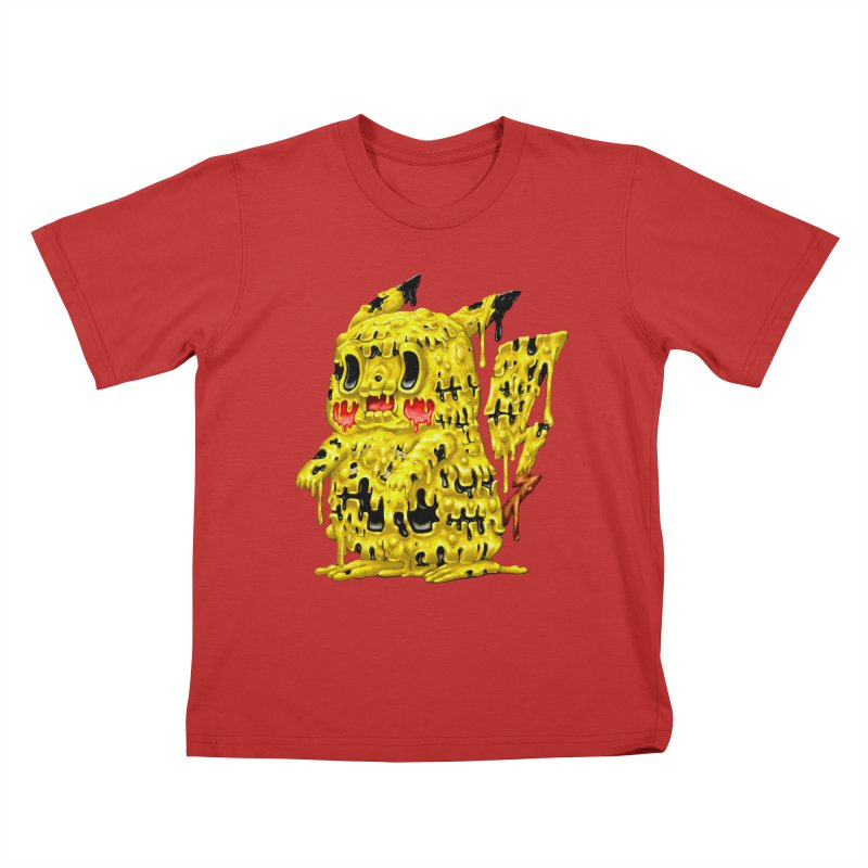 Melting Yellow Monster Kids T-Shirt by villainmazk's Artist Shop