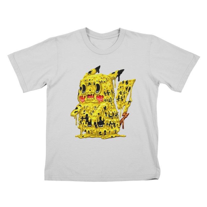Melting Yellow Monster Kids T-Shirt by villainmazk's Artist Shop