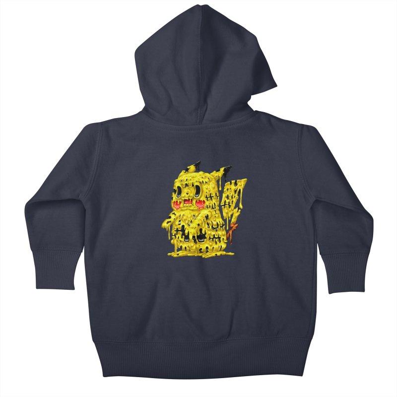 Melting Yellow Monster Kids Baby Zip-Up Hoody by villainmazk's Artist Shop