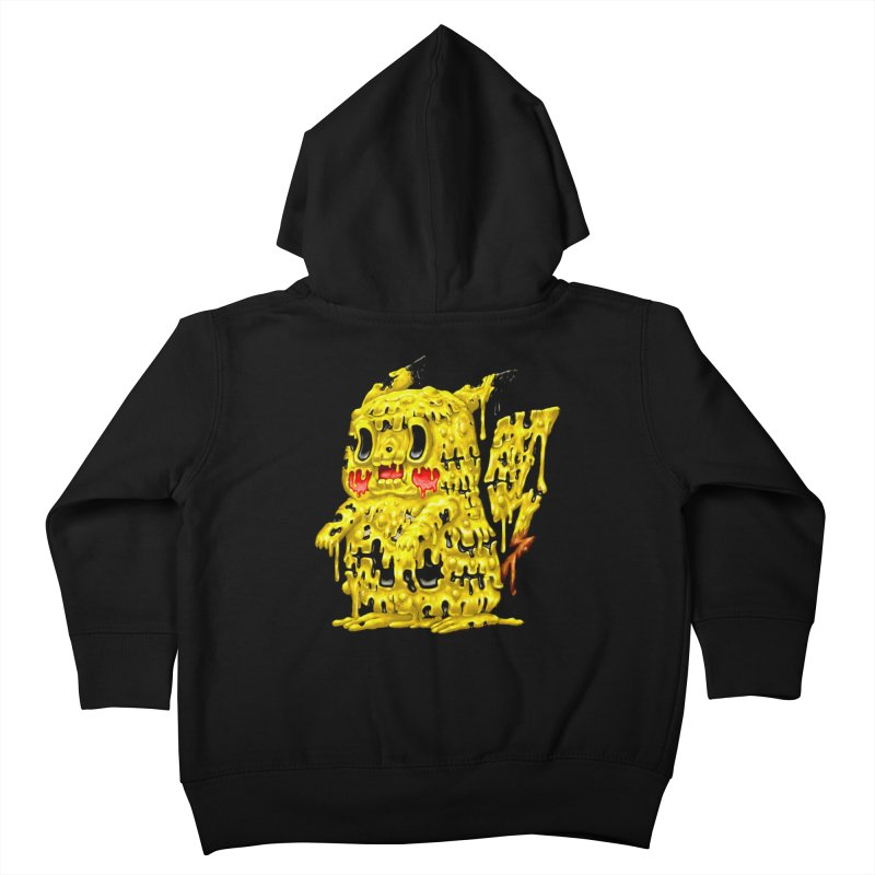 Melting Yellow Monster Kids Toddler Zip-Up Hoody by villainmazk's Artist Shop