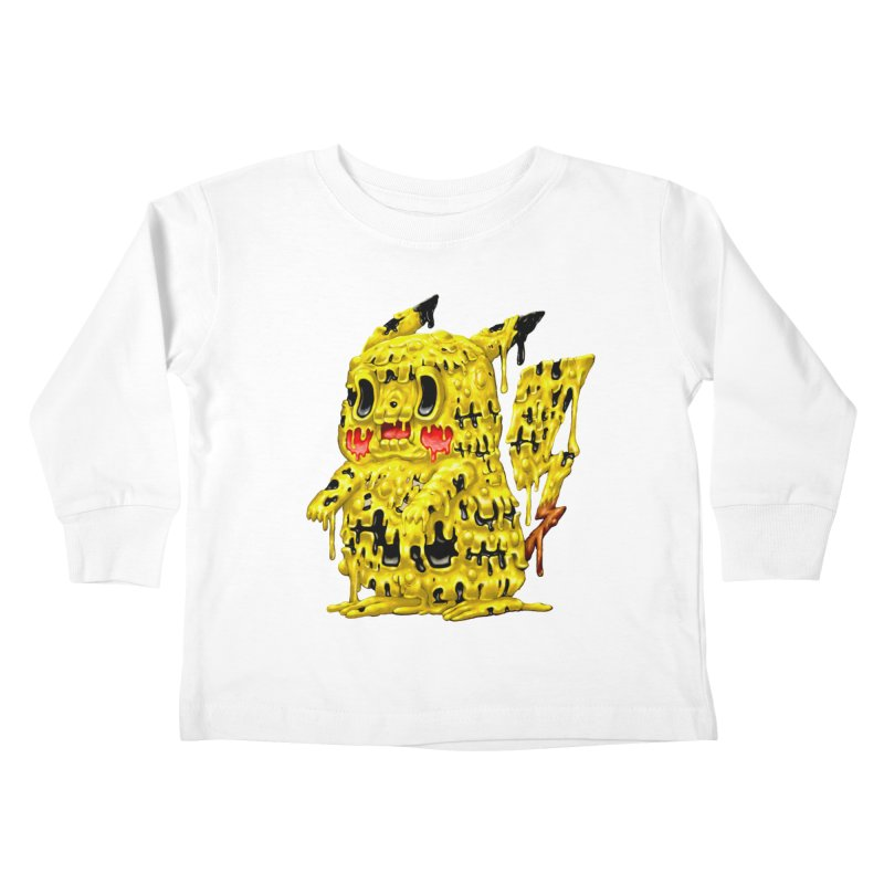 Melting Yellow Monster Kids Toddler Longsleeve T-Shirt by villainmazk's Artist Shop