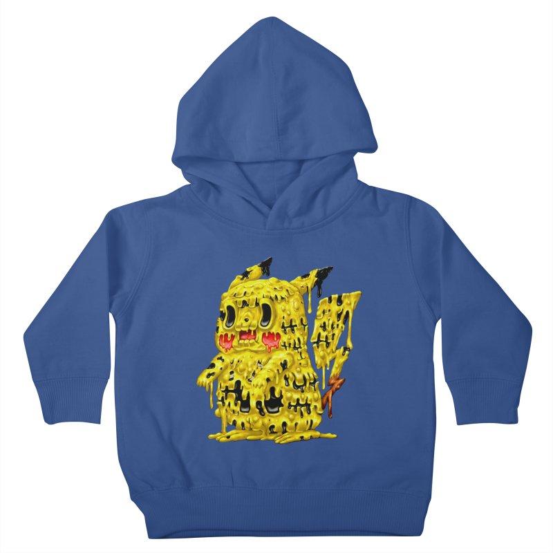 Melting Yellow Monster Kids Toddler Pullover Hoody by villainmazk's Artist Shop