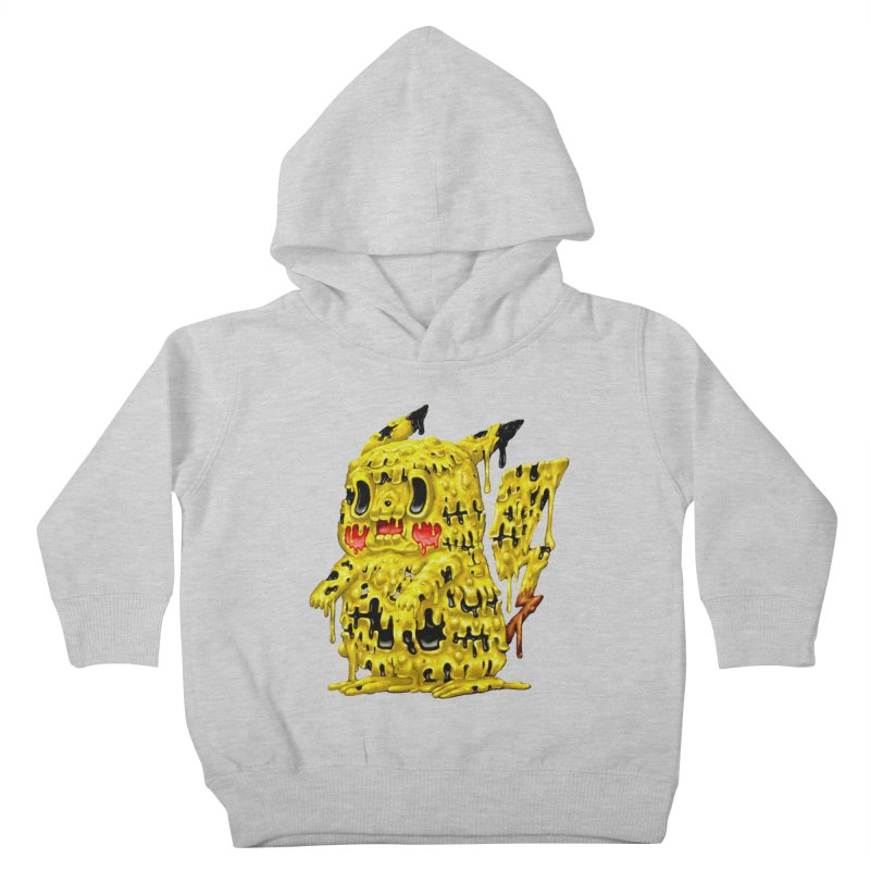 Melting Yellow Monster Kids Toddler Pullover Hoody by villainmazk's Artist Shop
