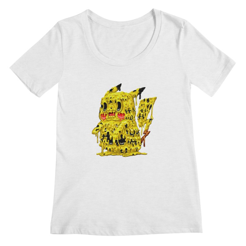 Melting Yellow Monster Women's Regular Scoop Neck by villainmazk's Artist Shop