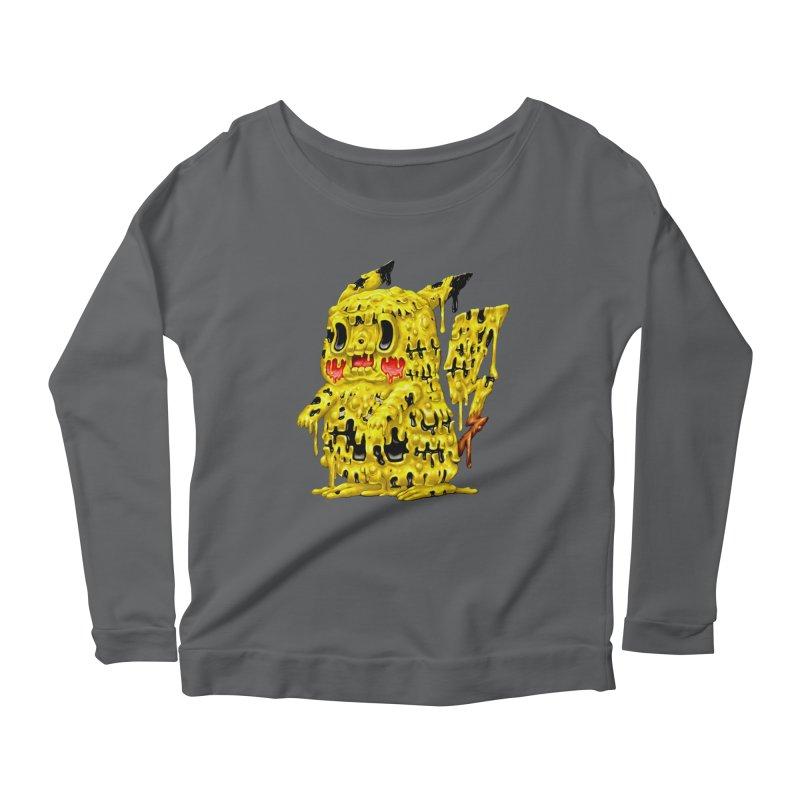 Melting Yellow Monster Women's Scoop Neck Longsleeve T-Shirt by villainmazk's Artist Shop