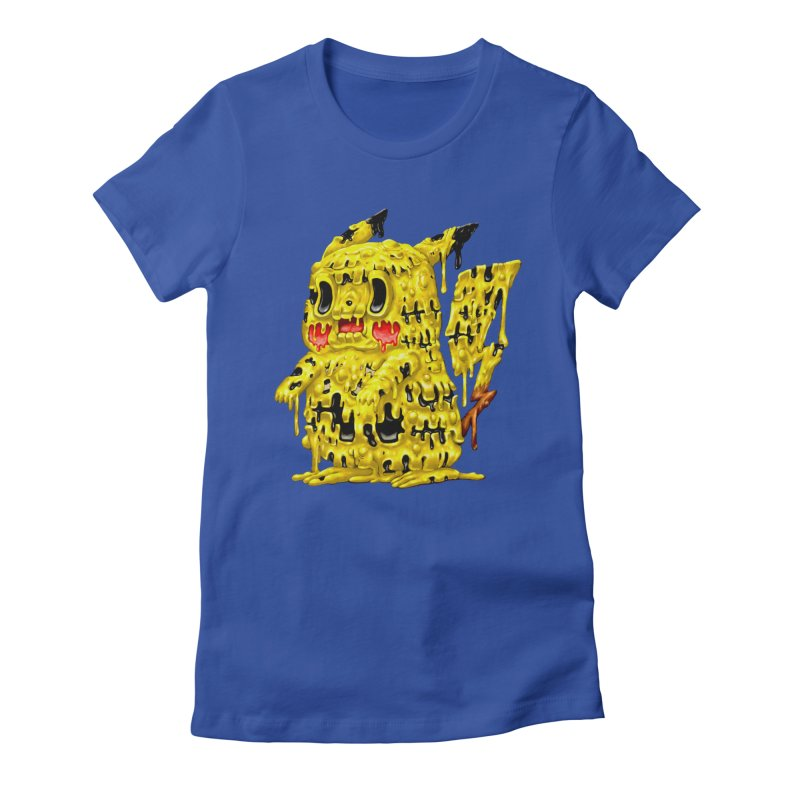 Melting Yellow Monster Women's Fitted T-Shirt by villainmazk's Artist Shop