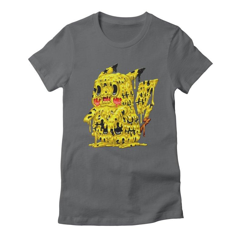 Melting Yellow Monster Women's Fitted T-Shirt by villainmazk's Artist Shop