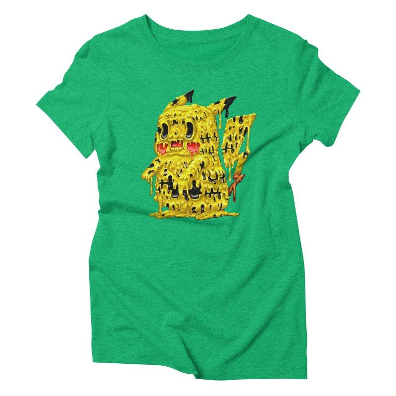 Melting Yellow Monster Women's Triblend T-Shirt by villainmazk's Artist Shop