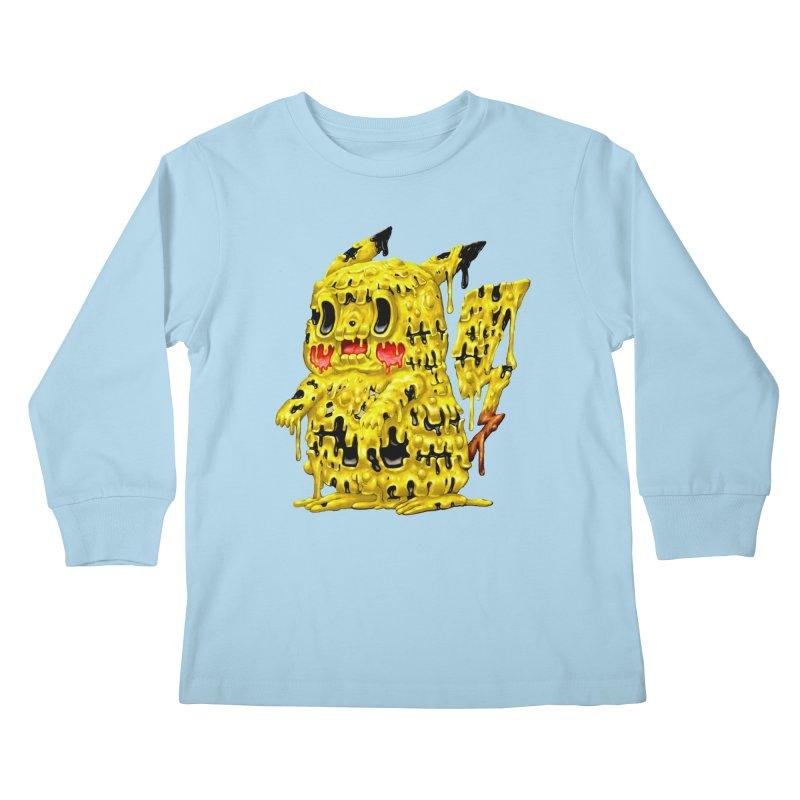 Melting Yellow Monster Kids Longsleeve T-Shirt by villainmazk's Artist Shop