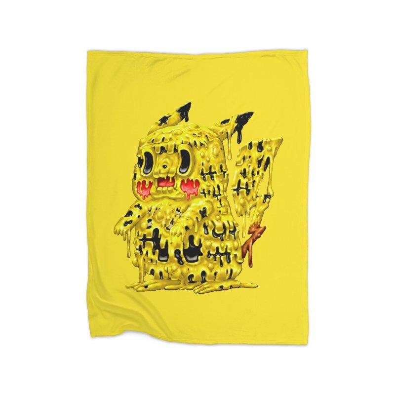 Melting Yellow Monster Home Fleece Blanket Blanket by villainmazk's Artist Shop